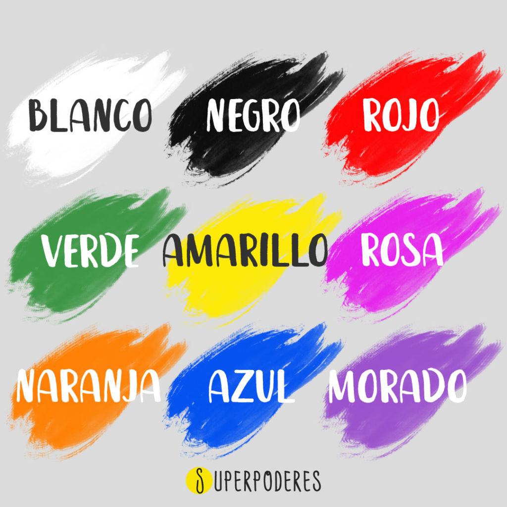 kolory po hiszpansku